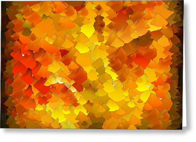 Capixart Abstract 103 Greeting Card by Chris Axford