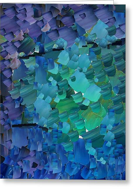 Capixart Abstract 50 Greeting Card by Chris Axford