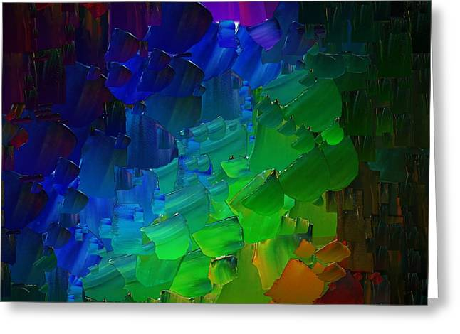 Capixart Abstract 51 Greeting Card by Chris Axford