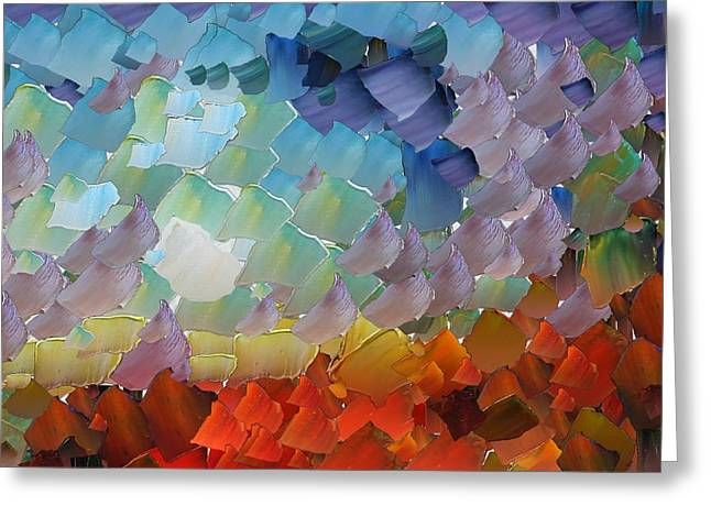 Capixart Abstract 67 Greeting Card by Chris Axford