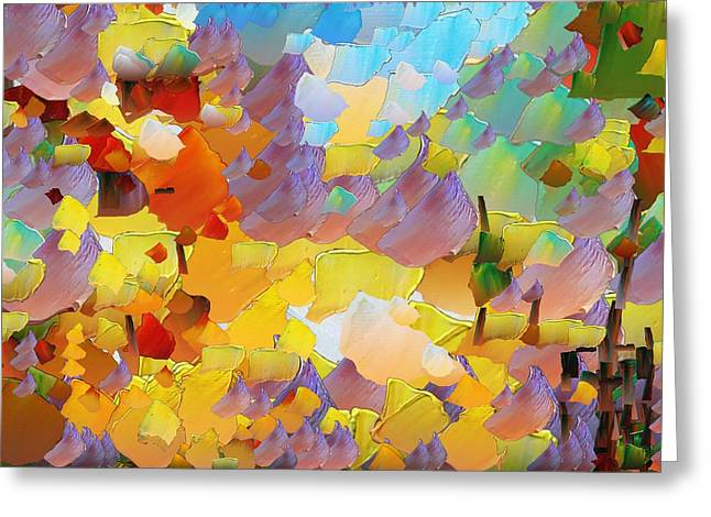 Capixart Abstract 70 Greeting Card by Chris Axford