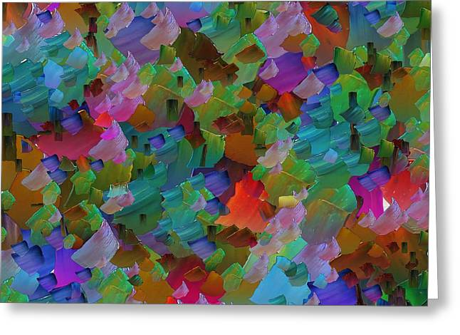 Capixart Abstract 71 Greeting Card by Chris Axford