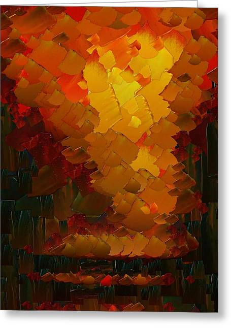 Capixart Abstract 72 Greeting Card by Chris Axford