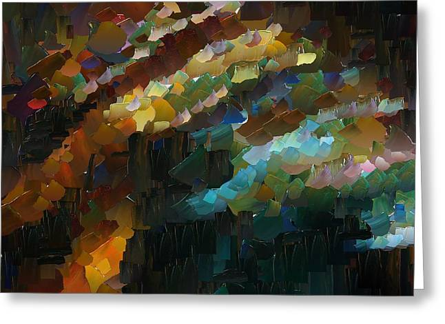 Capixart Abstract 74 Greeting Card by Chris Axford
