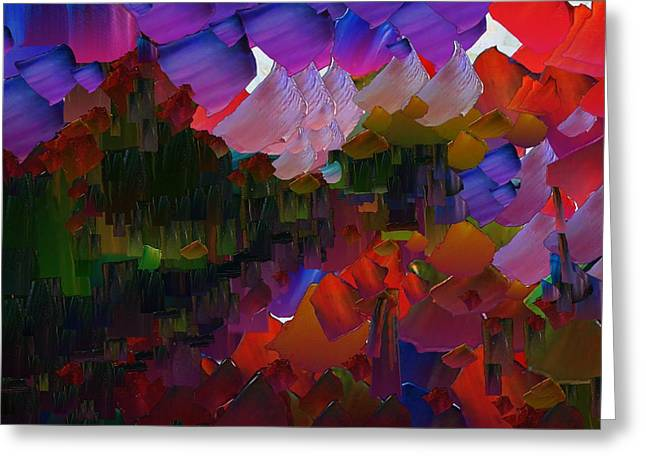 Capixart Abstract 75 Greeting Card by Chris Axford