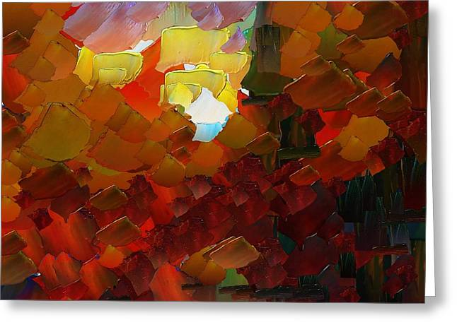 Capixart Abstract 78 Greeting Card by Chris Axford