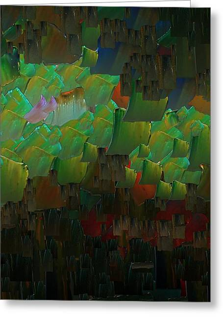 Capixart Abstract 85 Greeting Card by Chris Axford