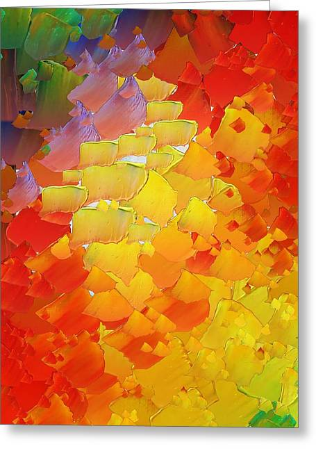 Capixart Abstract 87 Greeting Card by Chris Axford