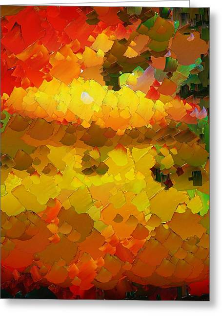 Capixart Abstract 88 Greeting Card by Chris Axford