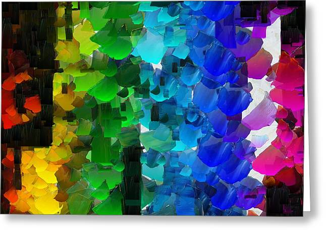 Capixart Abstract 93 Greeting Card by Chris Axford