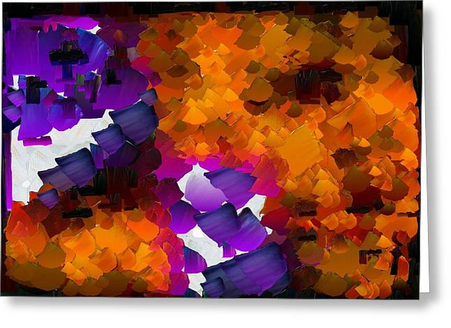 Capixart Abstract 96 Greeting Card by Chris Axford