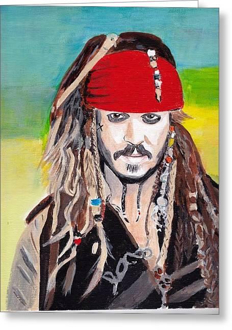 Cap'n Jack Sparrow Greeting Card
