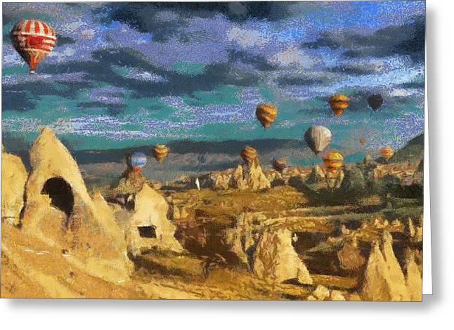 Cappadocia Ballons Fiesta Greeting Card