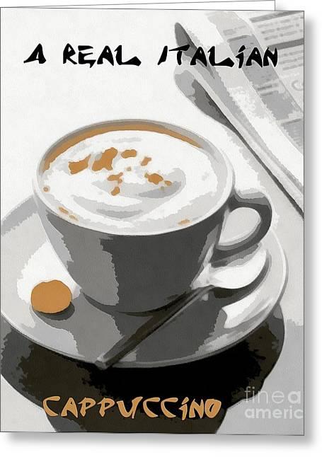 Cappuccino Greeting Card by Dragica  Micki Fortuna