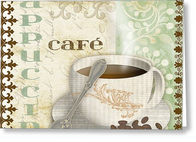 Cappuccino-jp2254-green Greeting Card by Jean Plout
