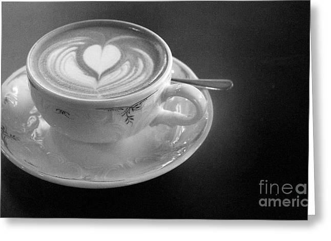 Cappuccino  Greeting Card by Louise Fahy