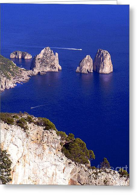 Capri Italy Seascape Greeting Card