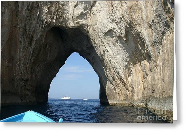 Capri Ocean Cave  Greeting Card