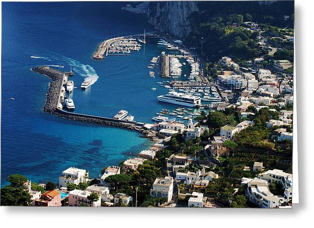 Capri Town Greeting Card