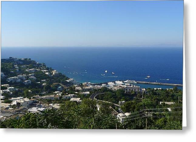 Capri - View From Hilltop Greeting Card