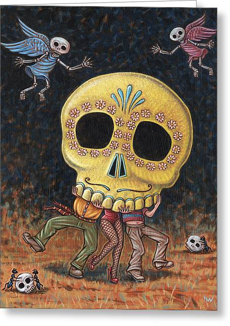 Caprichos Calaveras #2 Greeting Card by Holly Wood