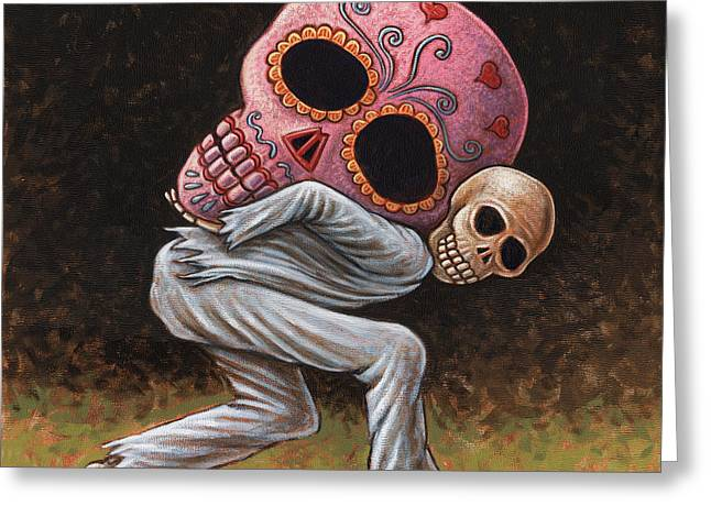 Caprichos Calaveras #4 Greeting Card by Holly Wood