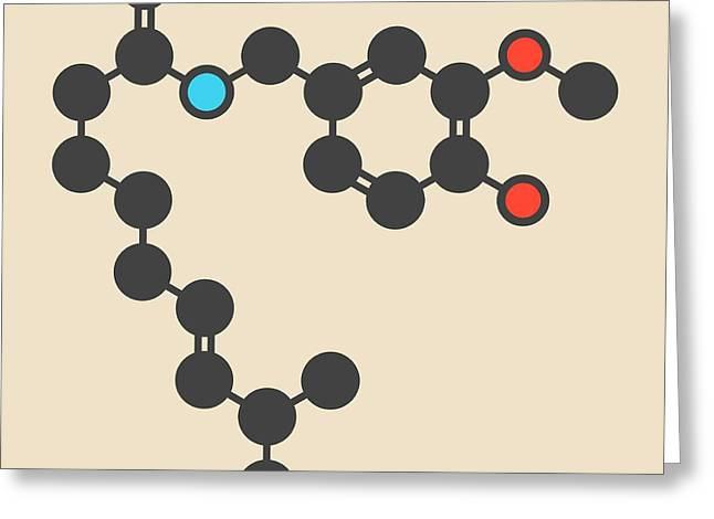 Capsaicin Chili Pepper Molecule Greeting Card