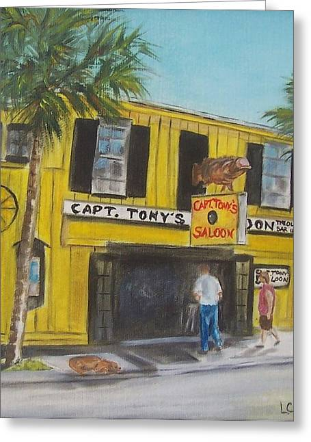 Capt. Tony's Saloon Greeting Card