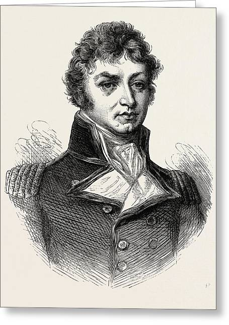 Captain Afterwards Sir Philip Broke. From A Portrait Greeting Card by American School