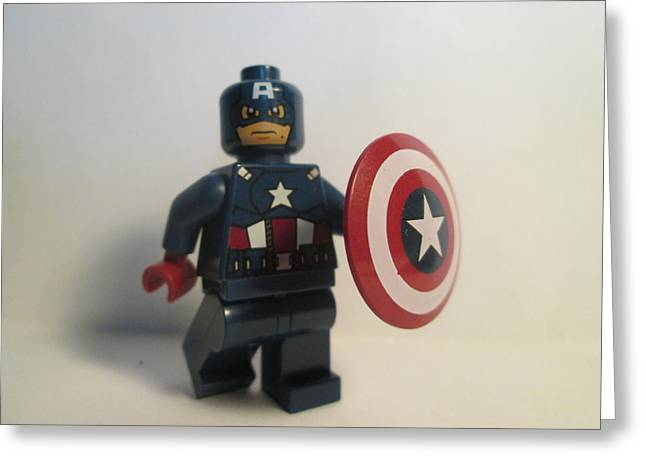 Captain America Greeting Card by Harrison Matlock