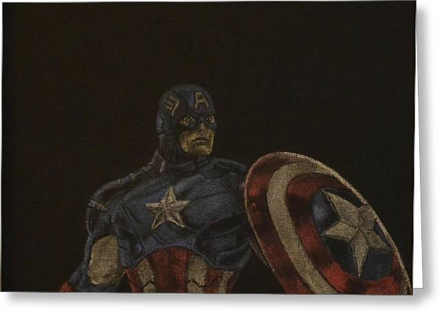 Captain America Greeting Card by Will Dudley