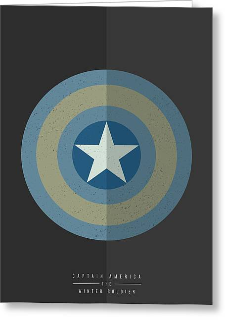 Captain America Winter Soldier Greeting Card by Mike Taylor