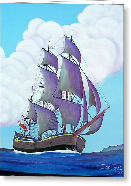Captain Cook   Endeavor Greeting Card