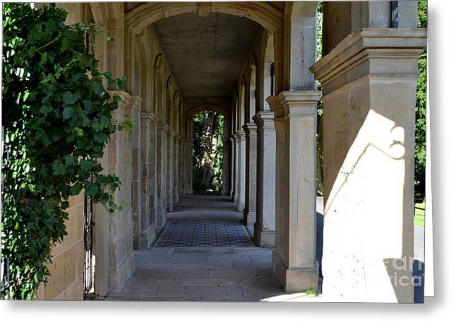 Captain Cook Museum Walkway Greeting Card