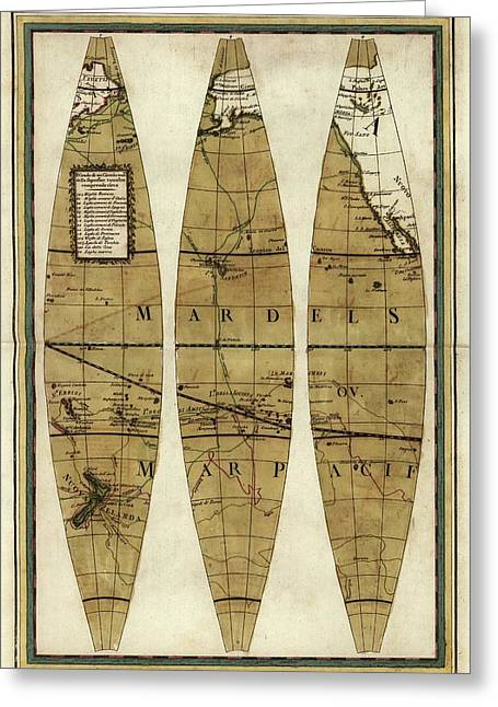 Captain Cook's Voyages Greeting Card by Library Of Congress, Geography And Map Division
