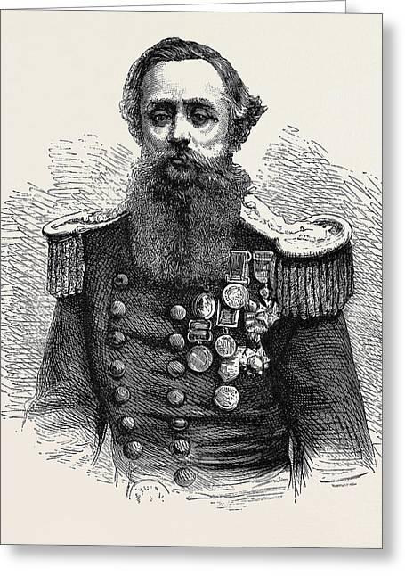 Captain Cowper Phipps Coles Greeting Card
