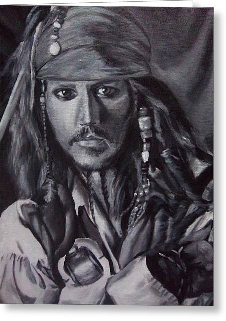 Captain Jack Sparrow Greeting Card by Lori Keilwitz