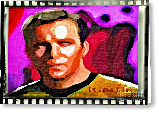 Captain James T Kirk Greeting Card by John Malone