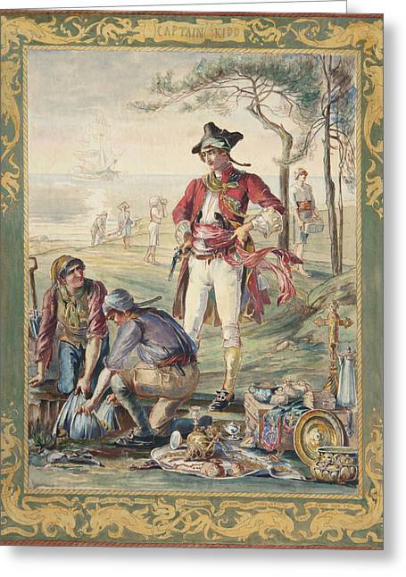 Captain Kidd  Helen Maitland Armstrong Greeting Card by Paul Ashby Antique Paintings