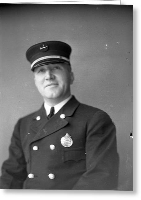 Captain Kinch Of The Century Of Progress Fire Department Greeting Card