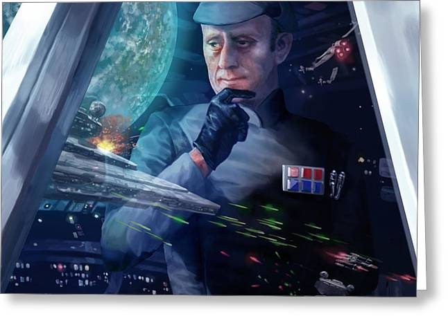 Captain Piett Greeting Card by Ryan Barger