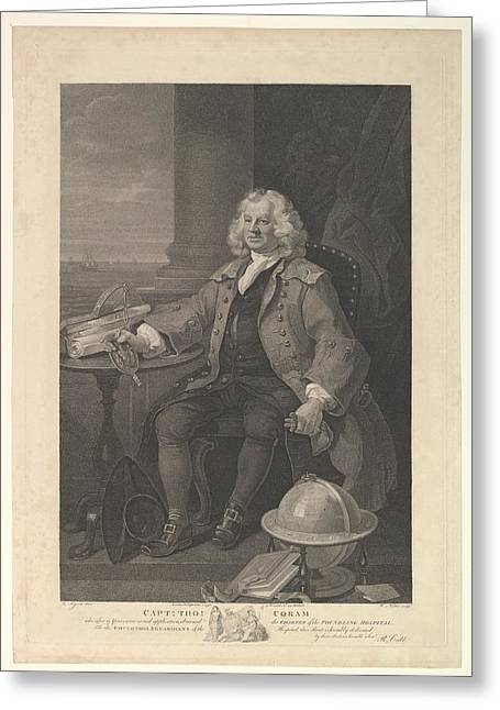 Captain Thomas Coram Greeting Card by After William Hogarth