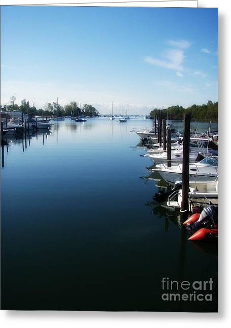 Greeting Card featuring the photograph Captain's Cove by Kristine Nora