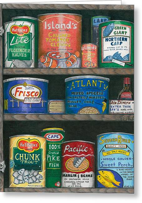 Captains Cupboard Greeting Card by Karen Rhodes