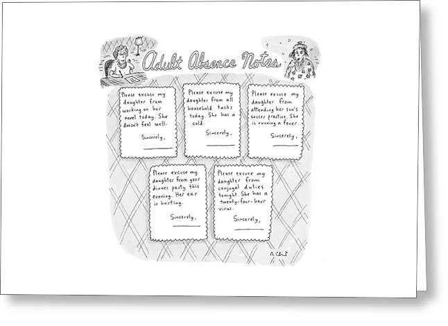Captionless: Adult Absence Notes Greeting Card