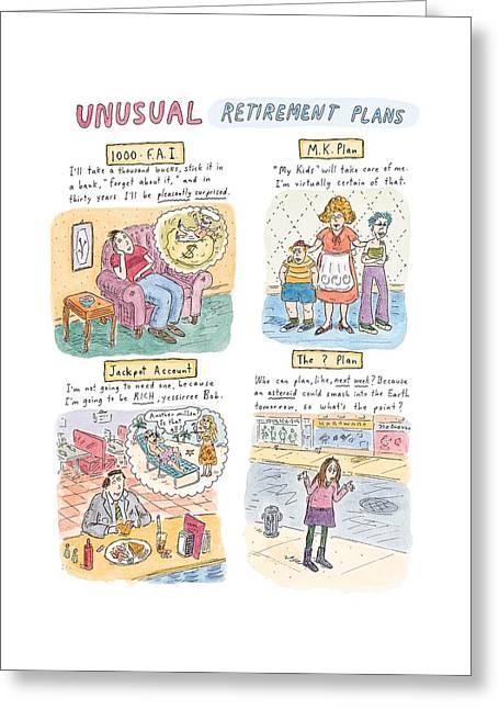 Captionless Unusual Retirement Plans Greeting Card
