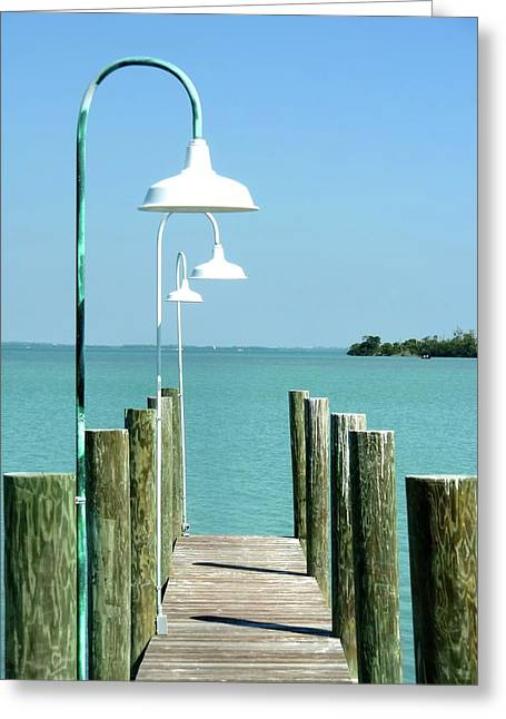 Captiva Island Pier Two Greeting Card by Richard Mansfield