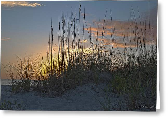Captiva Sunset Greeting Card by Mike Fitzgerald