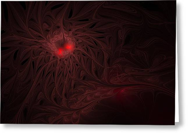Greeting Card featuring the digital art Captive Soul by GJ Blackman