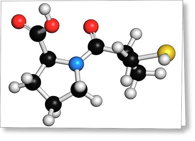 Captopril High Blood Pressure Drug Greeting Card by Molekuul